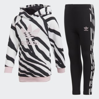 LZ Hoodie Set Black / White / Clear Pink FM9985