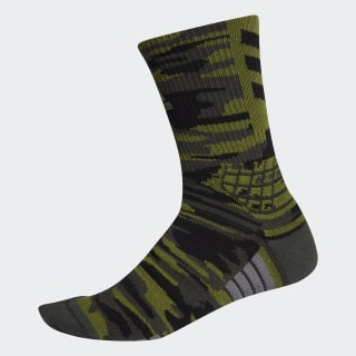 Creator 365 Graphic Crew Socks Tech Olive / Legend Earth / Black EK4759