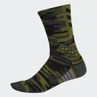 Creator 365 Graphic Crew Socks Tech Olive / Legend Earth / Black EK4759