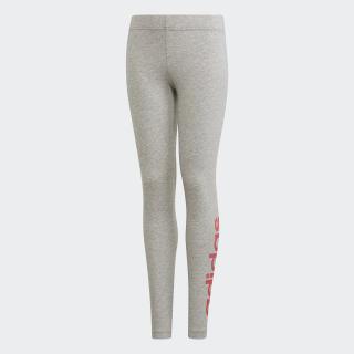 Essentials Linear Tights Medium Grey Heather / Real Pink EH6176