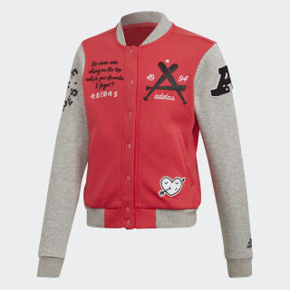 Куртка-бомбер Collegiate Core Pink / Medium Grey Heather FM4811