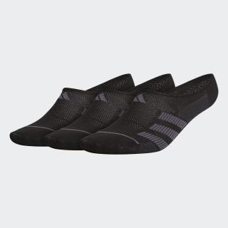 Superlite Stripe 2 Super-No-Show Socks 3 Pairs Black CM5782