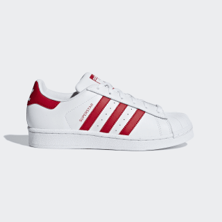 Scarpe Superstar Cloud White / Scarlet / Scarlet CG6609