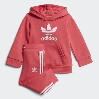 Conjunto sudadera con capucha y pantalón Trefoil Real Pink / White FR3831