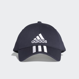 Six-Panel Classic 3-Stripes Şapka Legend Ink / White / White DU0198
