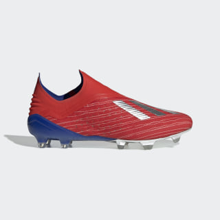 X 18+ Firm Ground Cleats Active Red / Silver Metallic / Bold Blue BB9337