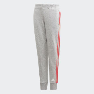 Брюки Must Haves 3-Stripes medium grey heather / prism pink DV0319