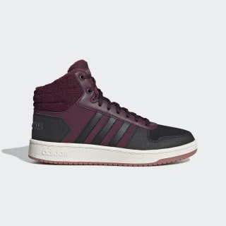 Кроссовки Hoops 2.0 Mid maroon / core black / night met. EE7877