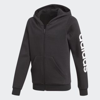 Veste à capuche Essentials Linear Black / White DV0353