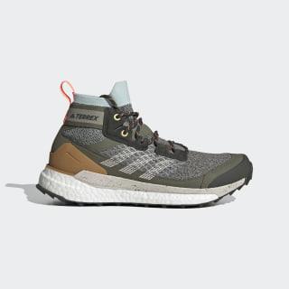Terrex Free Hiker Hiking Shoes Feather Grey / Aluminium / Green Tint EF6587