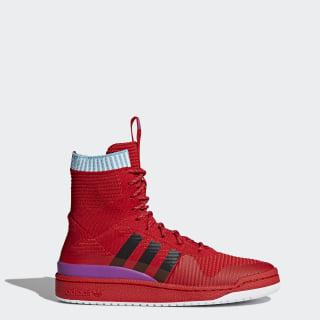 Men's Forum Primeknit Winter Shoes Scarlet/Core Black/Shock Purple BZ0645