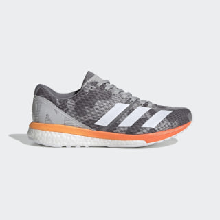 Adizero Boston 8 Shoes Grey Two / Cloud White / Hi-Res Coral G28877