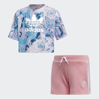 Marble Shorts Set Multicolor / White DV2343