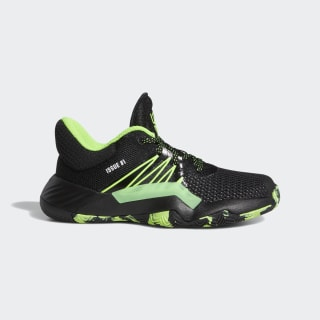 D.O.N. Issue #1 Shoes Core Black / Team Solar Green / Silver Metallic EF2937
