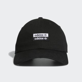 Stacked Forum Strap-Back Hat Black White CL5267