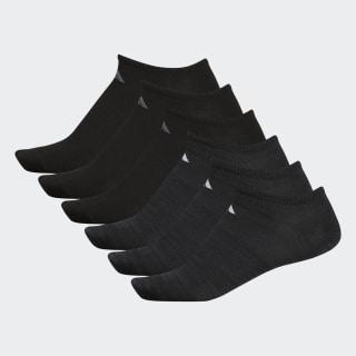 Superlite Ankle Socks 6 Pairs Black BH9618