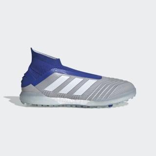 Chuteira para Gramado Sintético Predator Tango 19+ grey two f17 / ftwr white / bold blue BC0554