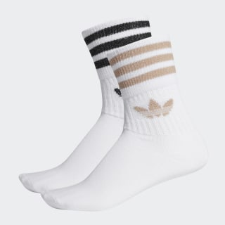 Mid-Cut Glitter Crew Socks 2 Pairs White / Ash Pearl / Black ED5907