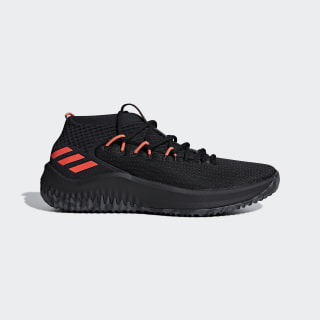 Баскетбольные кроссовки Dame 4 core black / dgh solid grey / hi-res red s18 BB9242