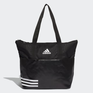 3-Stripes Training Tote Bag Black / Black / White DW9026