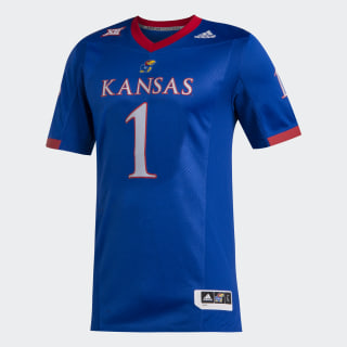 Jayhawks Premier Home Jersey Ncaa-Kan-734-1 / Collegiate Royal / Power Red EA2010