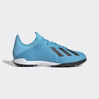 X 19.3 Turf Shoes Bright Cyan / Core Black / Shock Pink F35375