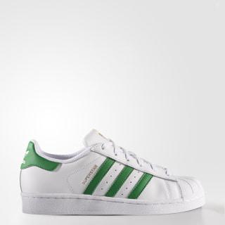 Superstar Shoes Cloud White / Green / Gold Metallic S81017