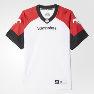 Stampeders Away Jersey White / Red / Black BA0634