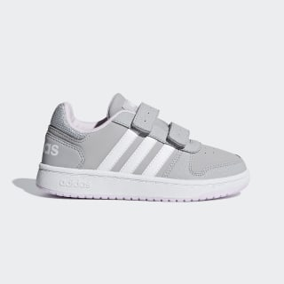 Hoops 2.0 Shoes Grey Two / Cloud White / Aero Pink F35892