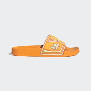 Adilette Slides Flash Orange / Semi Coral / Hi-Res Yellow EE6180