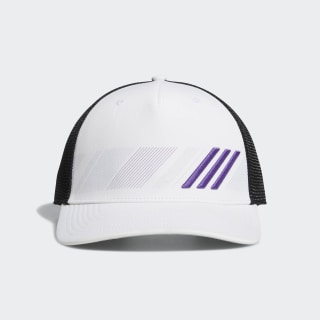 Stripe Trucker Hat White / Active Purple DP1625