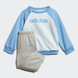 Linear Fleece Jogger Set Sky Tint / Lucky Blue / Medium Grey Heather FM6573