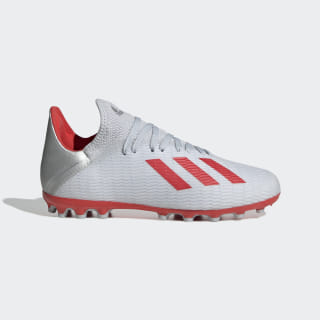 X 19.3 Artificial Grass Boots Silver Met. / Hi-Res Red / Cloud White F35326