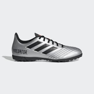 Calzado de Fútbol Predator TAN 19.4 Césped Artificial silver met. / core black / hi-res red s18 F35634