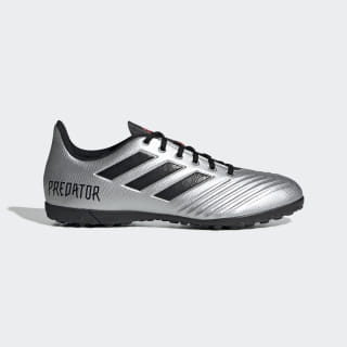 Calzado de Fútbol Predator TAN 19.4 Césped Artificial Silver Metallic / Core Black / Hi-Res Red F35634