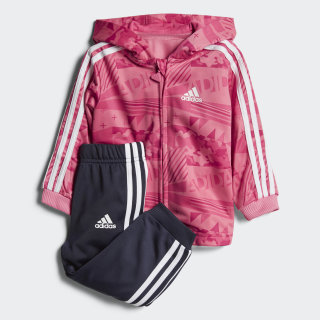 Conjunto Jogger Shiny Hooded CHALK PINK S18/VIVID BERRY S14/REAL PINK S18/WHITE LEGEND INK F17/WHITE/CHALK PINK S18 CF7393