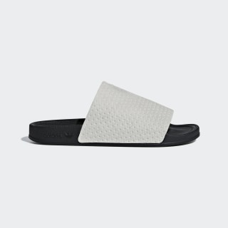 Adilette Luxe Slides Grey Two / Core Black / Gold Metallic DA8930