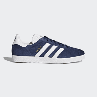 Кроссовки Gazelle Collegiate Navy / White / Gold Metallic BB5478