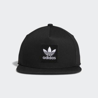 Two-Tone Trefoil Snapback Hat Black DH2568