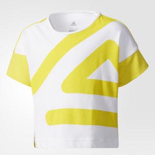 T-shirt adigirl Yellow/White/Yellow CE9377