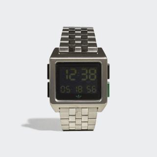 ARCHIVE_M1 Watch Silver Metallic / Black / Bold Green CK3106