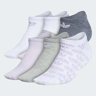 Graphic No-Show Socks 6 Pairs Dark Red EW0791