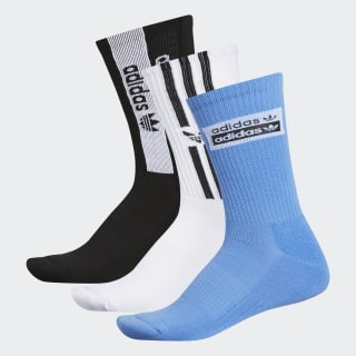 Stacked Forum Crew Socks 3 Pairs Light Blue CL5013
