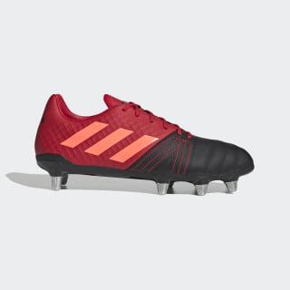 Zapatos de Rugby Kakari Elite Terreno Blando Core Black / Signal Coral / Scarlet EF3398
