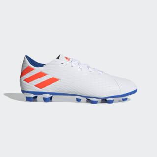 Tenis de Fútbol Nemeziz Messi 19.4 Terreno Flexible Cloud White / Solar Red / Football Blue F34401