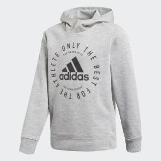 Sweat-shirt à capuche Sport ID Medium Grey Heather / Black DV1701
