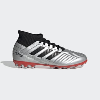 Predator 19.3 Artificial Grass Boots Silver Met. / Core Black / Hi-Res Red G25798