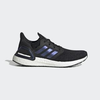 Кроссовки для бега Ultraboost 20 Core Black / Boost Blue Violet Met. / Cloud White EG0692