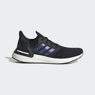 Zapatilla Ultraboost 20 Core Black / Boost Blue Violet Met. / Cloud White EG0692