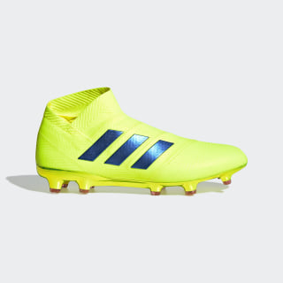 Футбольные бутсы Nemeziz 18+ FG solar yellow / football blue / active red BB9420